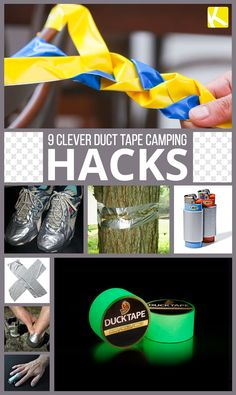 Duct tape is a handy tool to have around the house, but it turns into a gold mine when you're out camping and have none...