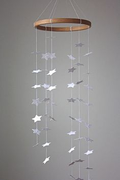 White Star Mobile by littlenestbox on Etsy.com...use this as a template for my origami cranes.