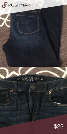 AE dark wash super skinny American Eagle super skinny jeans in dark wash. So comfortable with all the stretch. Regular length. American Eagle Outfitters Jeans