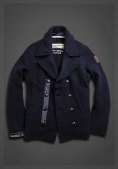 Marine jacket in boiled wool blue | Jackets | Man | FW12 | Replay | REPLAY Online Shop