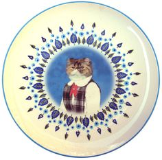 Heather School Portrait  Altered Vintage Plate by BeatUpCreations, $69.00