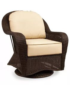 Furniture Monterey Wicker Outdoor Swivel Glider with Sunbrella® Cushion, Created for Macy's & Reviews - Furniture - Macy's