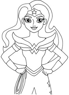 free printable super hero high coloring page for wonder woman more are coming i - Free Girl Coloring Pages