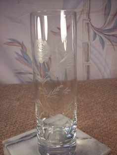 Etched thistle glass vase by ECCENTRICRON on Etsy