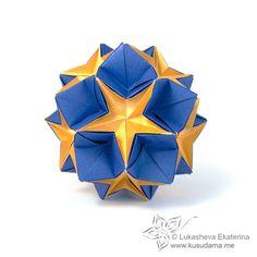 Flama Dupla _ Lukasheva Ekaterina Kusudama Me! - Origami modular!