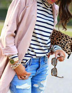 Pale Pink + Stripes