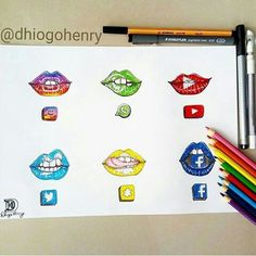 Social Media Drawing Lips