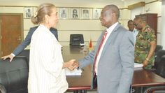 Dr Benjamin Kunbour (right), Minister for Defence, exchanging pleasantries with Mrs Irene Vida Gala, Brazilian Ambassador to Ghana. Picture: NII MARTEY M. BOTCHWAY