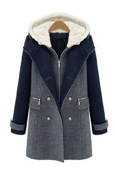 Furry Hood Wool Duffle Coat