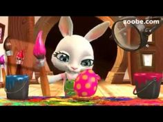 Easter messages for your friends and family — Zoobe - animated video messages, free app for iOS and Android. Get famous characters like The Smurfs, Maya the Bee. Happy Easter, Easter Bunny, Easter Eggs, Serbian Christmas, Easter Invitations, Easter Messages, Youtube, Egg Hunt, 3d Animation