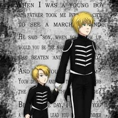 Welcome to the Black Parade fan art (wondering how many people don't realize this is Hetalia)