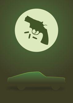 Mustang from the movie Bullitt - poster.