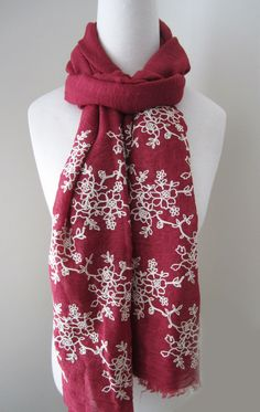 Use this scarf to add a pop of color to your black work outfit!!