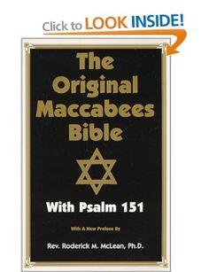 Original Maccabees Bible-OE: With Psalm 151: Amazon.co.uk: Roderick Michael McLean: Books