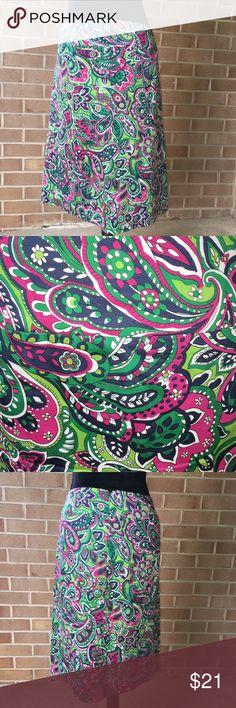 Talbots Paisley Skirt Paisley skirt by Talbots. 100% cotton size 12 Talbots Skirts