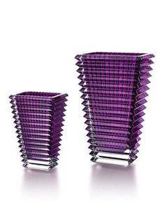 Purple Rectangular Eye Vases by Baccarat at Neiman Marcus.