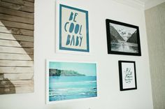 "Little Gem: Jacquelyn Bettencourt's Nursery | theglitterguide.com | Jimmy Marble ""Be Cool Baby"" Print"