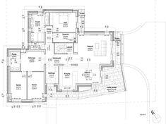 Kétszintes családi ház 237 m2   Családiházam.hu Floor Plans, Modern, House, Home, Trendy Tree, Homes, Floor Plan Drawing, Houses, House Floor Plans