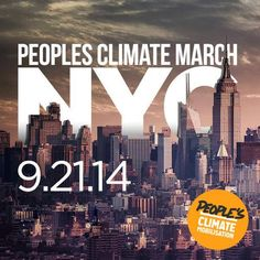 The largest climate march in history. If you live even vaguely close to New York City there's no where else to be on September 21. RSVP and find out all the details here: http://peoplesclimate.org/march/ — in New York, New York. #PeoplesClimate March