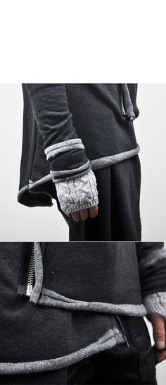 Tops :: Hoodies :: Avant-garde Haute Couture Hood Coat-Hoodie 28 - Mens Fashion Clothing For An Attractive Guy Look
