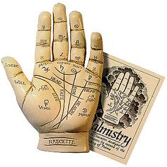 Resin Hand & Guide Booklet Palm Reading