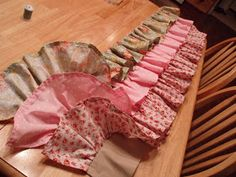 Use fishing line to create ruffles in sewing. (post is how to make a crib bumper w/ ruffles)