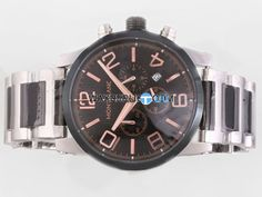 Montblanc Time Walker Working Chronograph with Black Dial-Rose G