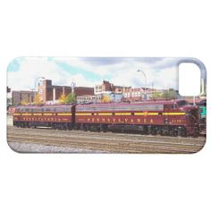 PRR E-8A(JTFS) 5809 and 5711 at Altoonia Railfest iPhone 5 Case - $44.95- -SOLD-- Protect your iPhone 5/5S with a customizable Barely There Case-Mate case. This form-fitting case covers the back and corners of your iPhone 5/5S with an impact resistant, flexible plastic shell, while still providing access to all ports and buttons. Designed for the iPhone 5 and iPhone 5S, this sleek and lightweight case is the perfect way to show off your custom style.