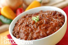 Old Fashioned Crockpot Chili- Official Fat Flush Smoothie Shakedown Recipe