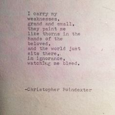 The Blooming of Madness poem #143 written by Christopher Poindexter