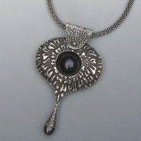 A beautiful fine silver necklace by Deb Steele. She is a Certified Artisan and a PMC instructor.