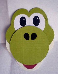 Punch Art Yoshi from Mario by DiHere - Cards and Paper Crafts at Splitcoaststampers