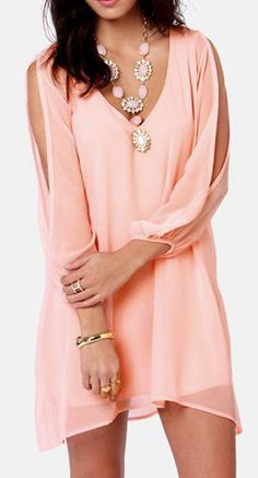 Women Summer Style Party Sexy Chiffon Dress Long Sleeve Beach Vestidos V-neck Casual Loose Unequal Short Plus Size Trend Fashion, Look Fashion, Fashion Beauty, Fashion Outfits, Womens Fashion, Fashion Clothes, Blue Fashion, Fashion Check, Fashion Music