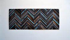 Sticker bois  tête de lit Chevron  récupéré bois par moderntextures