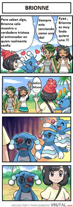 Animals, anime, and cute: but you know, always kyaa brionne smiling brionne Pikachu, Pokemon Alola, Pokemon Comics, Pokemon Memes, Pokemon Funny, Pokemon Stuff, Wii U, Pokemon Pictures, Funny Pictures