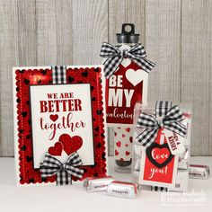 Valentines Day Card and Gift Set by Juliana Michaels featuring Gina K Designs New Valentine Love Collection with Therm O Web