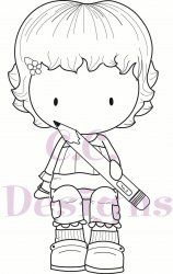C.C. Designs Sugarplums School Emma With Pencil DIGI Image