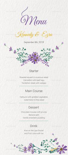 Elegant Dessert Menu Template Desserts menu, Menu templates and