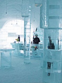 Absolut Ice Bar - Ice Hotel , Sweden - my favourite vodka was raspberry flavoured. Wow!