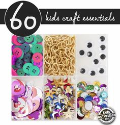 The best list of must-have craft supplies to keep on hand. You can create so many fun things with these!
