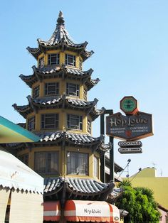 Pagoda Shaped Restaurant, Chinatown, Los Angeles