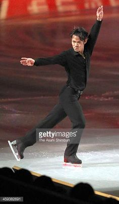 Daisuke Takahashi performs during the gala exhibition during day four of the 82nd All Japan Figure Skating Championships at Saitama Super Arena on...