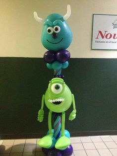 Monster Monsters Inc Decorations, Ballon Decorations, Balloon Centerpieces, Monster Inc Party, Monster Birthday Parties, Balloon Stands, Love Balloon, Balloons And More, Colourful Balloons