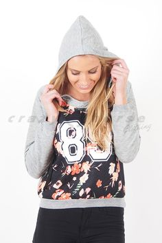 Are You Game Printed Floral Sweater by Refuge