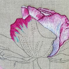 Hand Embroidery Stitches, Needle And Thread, Fiber Art, Rose, Blog, Inspiration, Image, Felt Wreath, Embroidered Roses