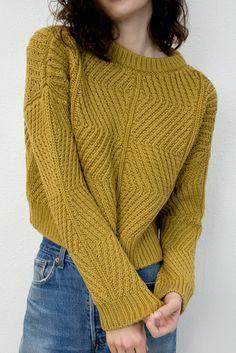 Micaela Greg Ochre Bevel Sweater (italian merino wool)