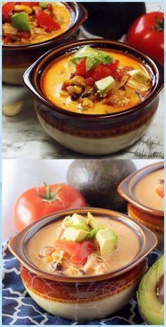 Instant Pot Chicken Taco Soup - Detox Soup Cabbage #Instant #Pot #Chicken #Taco #Soup #Detox #Soup #Cabbage