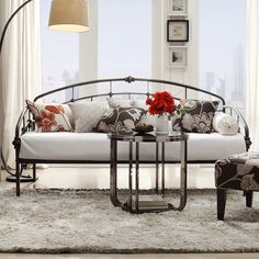Find This Pin And More On Guest/office. This Twin Metal Daybed ...