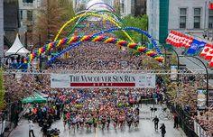 The Vancouver Sun Run is Canada's largest 10K race: 10K race, wheelchair race 2.5K mini sun run. April 19, 2015 #VancouverSunRun