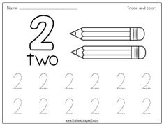 Let your child practice number tracing with this free printable. This set features number tracing and coloring worksheets in horizontal orientation. Preschool Homework, Numbers Preschool, Kindergarten Fun, Math Numbers, Free Preschool, Preschool Classroom, Coloring Worksheets For Kindergarten, Tracing Worksheets, Activity Based Learning